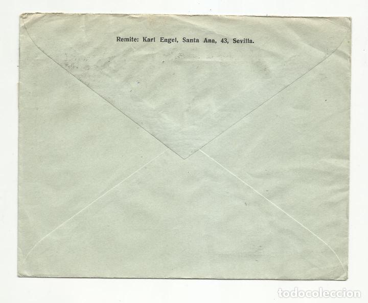Sellos: circulada 1937 de sevilla a gotha alemania con sello local y censura militar - Foto 2 - 289469848