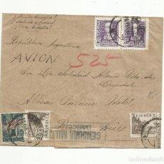 Sellos: CIRCULADA 1939 DE SARRIA BARCELONA A BUENOS AIRES CON SELLO LOCAL Y CENSURA MILITAR. Lote 289470378
