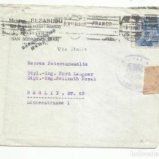 Sellos: CIRCULADA 1939 DE SAN SEBASTIAN A BERLIN ALEMANIA CON CENSURA MILITAR. Lote 289472663