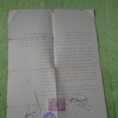 Sellos: 1937 - VALENCIA SELLO Y CUÑO DEL COLEGIO OFICIAL GESTORES ADMINISTRATIVOS - GUERRA CIVIL. Lote 289476633