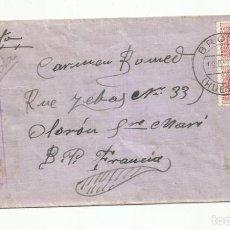 Sellos: CIRCULADA 1936 DE BROTO HUESCA A SANTA MARIA OLORON FRANCIA CON CENSURA REPUBLICANA. Lote 289551683