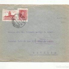 Sellos: CIRCULADA 1938 DE MERIDA BADAJOZ A GENERAL QUEIPO DE LLANO SEVILLA CON CENSURA MILITAR. Lote 289552448