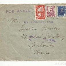 Sellos: CIRCULADA 1938 DE PALMA DE MALLORCA A TOULOUSE FRANCIA CON CENSURA MILITAR. Lote 289552903
