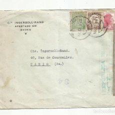 Sellos: CIRCULADA 1938 DE MADRID A PARIS FRANCIA CON CENSURA REPUBLICANA. Lote 289562528