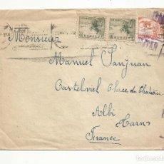 Sellos: CIRCULADA 1938 DE SEVILLA A ALBI FRANCIA CON CENSURA MILITAR. Lote 289565253