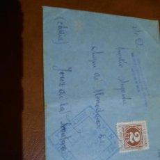 Sellos: CENSURA MILITAR.JEREZ DE KA FRONTERA- UTRERA.. Lote 289688848