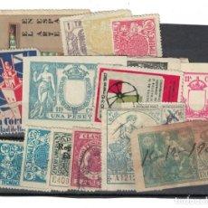 Sellos: RB.1/ FICHA DE VIÑETAS Y FISCALES, SEGUN FOTO. Lote 291320323