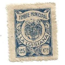 Sellos: SELLO MUNICIPAL. TIMBRE MUNICIPAL. LA LUISIANA. SEVILLA. 25 CS. Lote 291530948