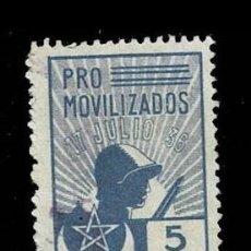 Sellos: 0099 GUERRA CIVIL MARRUECOS FESOFI Nº 6 VALOR 5 PTAS. COLOR AZUL USADO VER. Lote 292158303