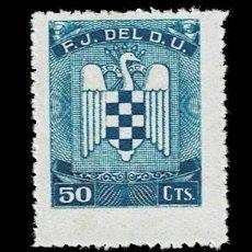 Selos: 0227GUERRA CIVIL FRENTE DE JUVENTUDES F.J. DEL D.U. VALOR 50 CTS. COLOR AZUL SIN FIJASELLOS. Lote 292163078