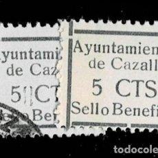 Sellos: CL8-19 GUERRA CIVIL CAZALLA DE LA SIERRA FESOFI Nº 5 VARIEDAD TAMAÑO DE MARCO DISTINTO COLOR NEGRO (. Lote 292390948