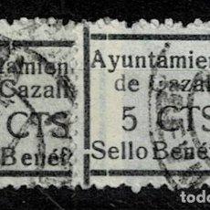 Sellos: CL8-19 GUERRA CIVIL CAZALLA DE LA SIERRA FESOFI Nº 5 VARIEDAD TAMAÑO DE MARCO DISTINTO COLOR NEGRO (. Lote 292392168