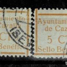Sellos: CL8-19 GUERRA CIVIL CAZALLA DE LA SIERRA FESOFI Nº 6 VARIEDAD DE TAMAÑO ( 18 X 24,5 Y 17 X 21,5 RESP. Lote 292392788