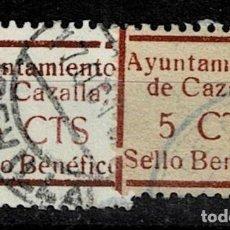 Sellos: CL8-19 GUERRA CIVIL CAZALLA DE LA SIERRA FESOFI Nº 8 VARIEDAD TAMAÑO DE MARCO DISTINTO COLOR CASTAÑO. Lote 292393678