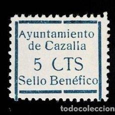 Sellos: CL8-19 GUERRA CIVIL CAZALLA DE LA SIERRA FESOFI Nº 9 MARCO GRANDE CON VARIEDAD (C) ROTA COLOR AZUL. Lote 292396063