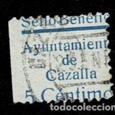 Sellos: CL8-19 GUERRA CIVIL CAZALLA DE LA SIERRA FESOFI Nº 4 VARIEDAD DE TAMAÑO POR SALTO DE PEINE (FALTAN L. Lote 292399303
