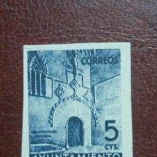 Selos: AÑO 1938 PUERTA GOTICA DEL AYUNTAMIENTO NUEVO EN PAPEL GRUESO VALOR DE CATALOGO 25,50 EUROS. Lote 292404623