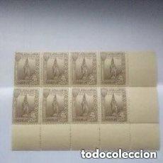 Sellos: ESPAÑA VIÑETA GUERRA CIVIL CATALUÑA PI DE LLOBREGAT BLOQUE DE 8.MNH. Lote 293328233
