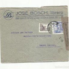 Sellos: CIRCULADA 1943 DE BARCELONA A GENEVE SUIZA CON CENSURA GUBERNATIVA. Lote 293615383