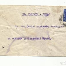 Sellos: CIRCULADA 1938 DE LONDON INGLATERRA A LA GUARDIA PONTEVEDRA CON CENSURA MILITAR. Lote 293627788