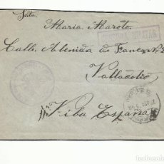 Sellos: CIRCULADA 1940 BATALLON DE SAN QUINTIN DE MANRESA A VALLADOLID CON CENSURA Y FRANQUICIA MILITAR. Lote 293713508