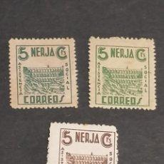 Sellos: ESPAÑA SELLOS GUERRA CIVIL NERJA SERIE VIÑETAS AÑO 1936 NUEVO * MUY ESCASO. Lote 293726593