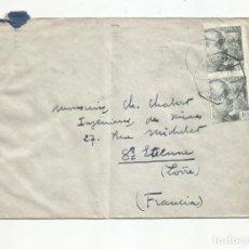 Sellos: CIRCULADA 1942 DE MADRID A SAINT ETHIENE FRANCIA CON CENSURA GUBERNATIVA Y AMBULANTE LEON BILBAO. Lote 293740793