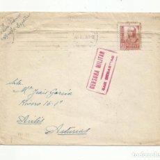 Sellos: CIRCULADA 1938 DE SAN SEBASTIAN A AVILES ASTURIAS CON CENSURA MILITAR. Lote 293780483