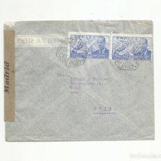 Sellos: CIRCULADA 1942 DE MADRID A BALE SUIZA CON CENSURA GUBERNATIVA. Lote 293781508