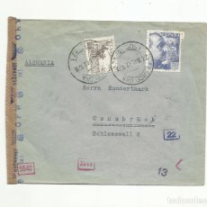 Sellos: CIRCULADA 1942 DE BARCELONA A OSNABRUCK ALEMANIA CON CENSURA GUBERNATIVA Y NAZI. Lote 293781798