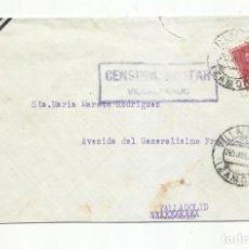 Sellos: CIRCULADA 1938 DE VILLALPANDO ZAMORA A VALLADOLID CON CENSURA MILITAR. Lote 293783168