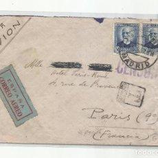 Sellos: CIRCULADA 1937 DE MADRID A PARIS FRANCIA CON CENSURA REPUBLICANA. Lote 293863128