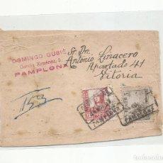 Sellos: FECHADOR 1937 DE PAMPLONA NAVARRA SOBRE FRAGMENTO. Lote 293863258