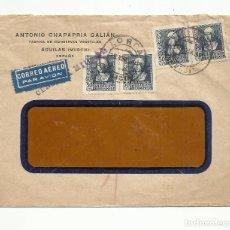 Sellos: CIRCULADA 1939 DE CONSERVERA AGUILAS LORCA MURCIA A LA HABANA CUBA CON CENSURA MILITAR. Lote 294119583