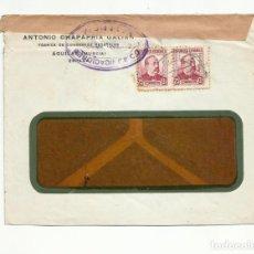 Sellos: CIRCULADA 1936 DE CONSERVERA AGUILAS MURCIA A LA HABANA CUBA CON CENSURA VALENCIA. Lote 294119753
