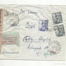 Sellos: CIRCULADA 1941 DE MADRID A BERLIN ALEMANIA CON CENSURA GUBERNATIVA. Lote 294120603