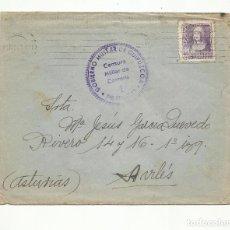 Sellos: CIRCULADA 1940 DE SAN SEBASTIAN A AVILES ASTURIAS CON CENSURA MILITAR. Lote 294121548