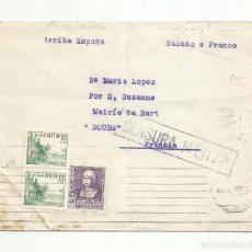 Sellos: CIRCULADA 1939 A SUZANNE FRANCIA CON CENSURA MILITAR. Lote 294142028