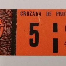 Sellos: CRUZADA DE PROTECCIÓN OCULAR. SINDICATO VIDRIO. OPTICA. 5, CON GOMA PERO USADO. Lote 294433898