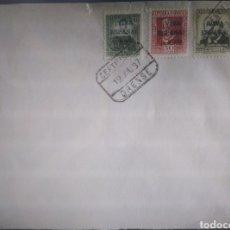 Sellos: SELLOS ESPAÑA USADOS 1937 LOCALES ORENSE EN SOBRR. CLAVES +180€. Lote 294813703