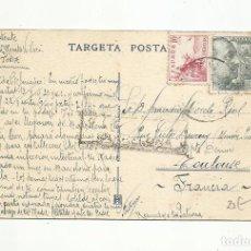 Sellos: TARGETA POSTAL CIRCULADA DE TOSSA DE MAR A TOULUSE FRANCIA CON CENSURA BARCELONA. Lote 294822398
