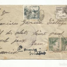 Sellos: CIRCULADA 1941 DE BENIMAMET VALENCIA A TARN FRANCIA CON CENSURA GUBERNATIVA. Lote 294823158