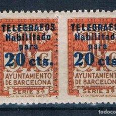 Sellos: ESPAÑA BARCELONA TELEGRAFOS 5 MNH** DOS VALOR CATÁLOGO 204€ VER. Lote 294937153