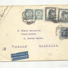 Sellos: CIRCULADA 1938 DE MADRID A BIARRITZ CON CENSURA REPUBLICANA. Lote 295033513