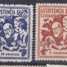 Sellos: MM15- GUERRA CIVIL ASSISTENCIA SOCIAL 5 /20 CTS CERDANYOLA ** SIN FIJASELLOS.LUJO. Lote 295486398
