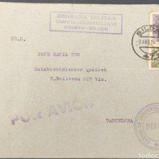 Sellos: GUERRA CIVIL CARTA CAMPO DE CONCENTRACIÓN DE PRISIONEROS DEUSTO BILBAO 1939. Lote 295534363