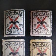 Sellos: SELLOS ESPAÑA MNH 1937 LOCALES BENÉFICOS PRO PARO MALLORCA. Lote 295592473