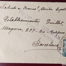 Sellos: GUERRA CIVIL CARTA CENSURA MILITAR AMPOSTA RARA TARRAGONA 1939. Lote 295643353