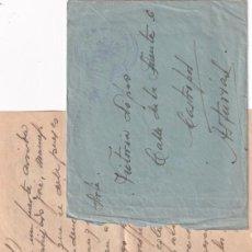 Sellos: CARTA DE UNA MADRINA DE GUERRA. PUENTES CALIENTES (TERUEL) 13-2-1938 GUERRA CIVIL. Lote 295692903