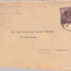 Sellos: POSTAL TARJETÓN DIRIGIDA A LA PRISIÓN NUEVA DE LIRIA 1940 VALENCIA... Lote 295694678